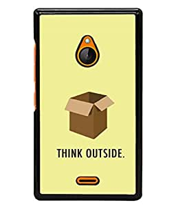 PrintVisa Designer Back Case Cover for Nokia XL (Think Outside The Box Innovative Design)