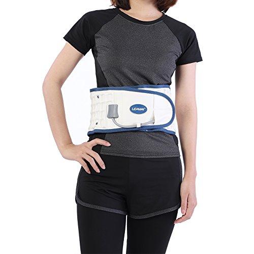 Supporto Lombare per la schiena e cintura di supporto-un sollievo dai Dolori Lombari-Fascia Elastica Lombare Sostegno Fitness Supporto Schiena Regolabile(White)