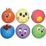 6palline in lattice a forma di muso, giocattolo per cani che suona, dimensioni di una pallina da tennis, morbide