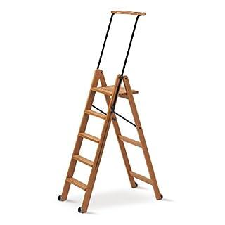 Arredamenti Italia AR_IT- 170/5 TUSCANIA folding ladder 5 steps finishing cherry wood.