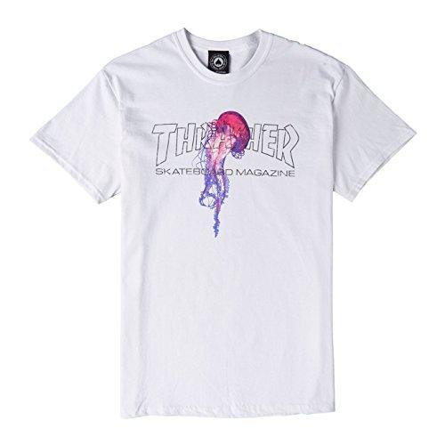 Thrasher atlantic drift white t-shirt dimensione m