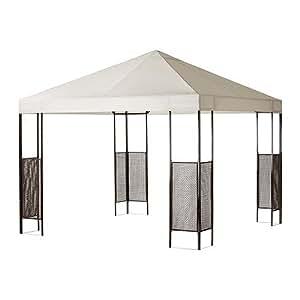 ikea pavillon ammer gartenzelt mit uv schutz winddurchlass stahlpfosten handgeflochtenem. Black Bedroom Furniture Sets. Home Design Ideas