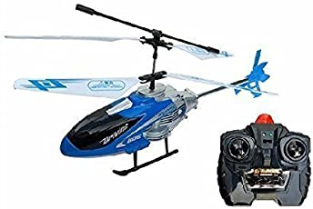 Toykart Flying Radio Remote Controlled Helicopter with Unbreakable Blades Lights and Charger (Multicolor)