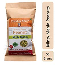 Chakhna Shot Minty Mania Flavour – Snacks for Pass time – Ready to Eat Spicy Snack – Peanuts 50g (Pack of 3)