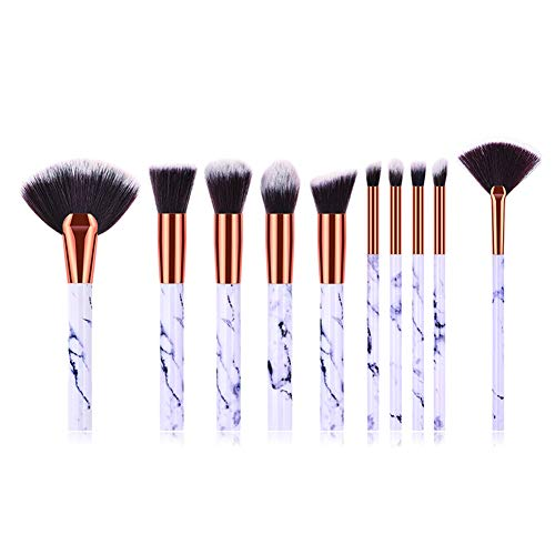 Wicemoon 10pcs Kosmetikpinsel Eyeshadow Brushes Make-up Gesichtspinsel Kombination Set Weiß