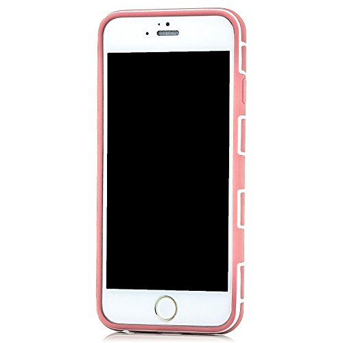 Saxonia Hülle + Panzerglas + Panzerglas Apple iPhone 6 / 6S Case TPU Hardcase Slim Slim Silikon Back Cover Schutzhülle Rosa-Orange Rosa-Orange