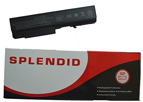 SPLENDID BRANDED - HIGH GRADE - 6 CELL LAPTOP BATTERY FOR HP COMPAQ EliteBook 8440P (BLACK )