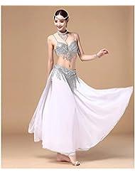 Mujer juego de la ropa de danza del vientre / sujetador + falda , s , golden