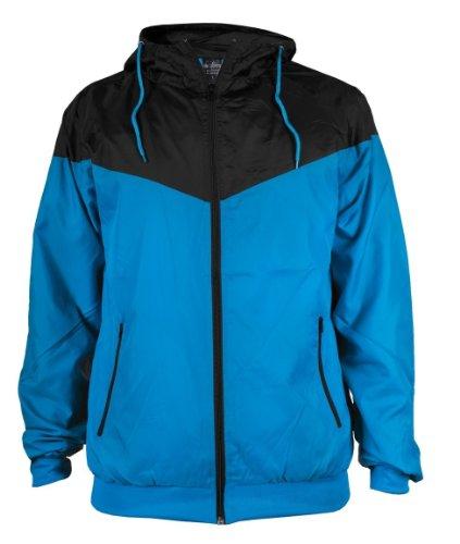 Urban Classics Herren Jacke Bekleidung Arrow Windrunner Turquoise/Black