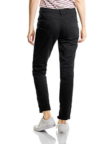 CECIL Damen Hose New York 370921 Schwarz (Black 10001)