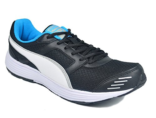 Puma Men's Harbour Dp Black, White, Silver and Atomicblue Running Shoes - 6 UK/India (39 EU)  available at amazon for Rs.839