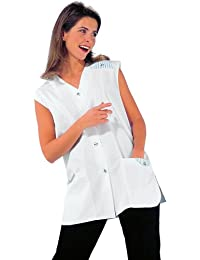 LEIBER Damen-Kasack - mit Besatz und Seitenschlitzen - weiß - Größe: 44