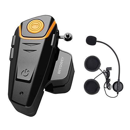 ENCHICAS 1x BT S2 Intercomunicador Casco Moto, 1000m Bluetooth Headset Motorcycle Intercom...