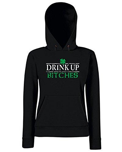 T-Shirtshock - Sweats a capuche Femme TIR0036 drink up bitches st patricks day tshirt (1) Noir