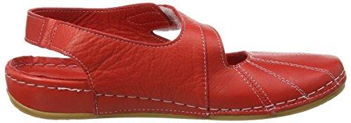 Andrea Conti Damen 0021562 Geschlossene Sandalen mit Keilabsatz Rot (rot 021)