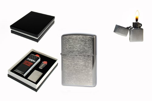 Preisvergleich Produktbild Zippo® Geschenkset: 1 Benzin | 1 Flint | 1 Zippo Chrom brushed