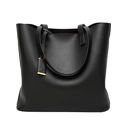LAIDAYE Frau Handtasche Schulter Art Und Weise Black
