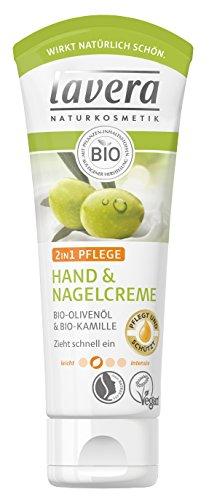 lavera Hand & Nagelcreme 2in1 Pflege ∙ Bio Olivenöl & Bio Kamille ∙ Handcreme zieht schnell ein ∙ vegan ✔ Bio ✔ Natural & innovative Hand Care ✔ Naturkosmetik 2er Pack (2x75ml)