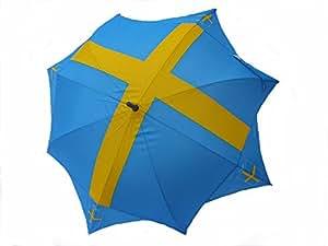 Stockschirm/Regenschirm/Sonnenschirm/Schirm mit Flaggenmotiv SCHWEDEN