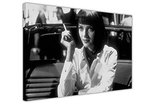 CANVAS IT UP Pulp Fiction Print Mia Abendessen Folie Foto Druck auf Leinwand Wall Art Plakat des Film zeitgenössisch 07- A1-34