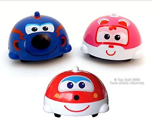24 Toupies Super Wings (Gyro Push Toy -