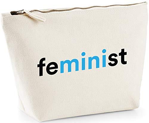Hippowarehouse Mini Feminist Bolsa de Lavado cosmética Maquillaje Impreso 18x19x9cm
