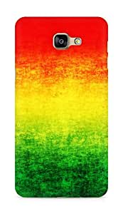 Amez designer printed 3d premium high quality back case cover for Samsung Galaxy A9 (Rasta grunge)