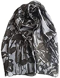 Stoles And Scarves For Women, Women's Scarf/Stole For Summer/Winter, Stylish, Plain Scarf, Black And Grey