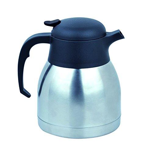 Thermoskanne 2 L doppelwandig Einhandautomatik Isolierkanne Kaffeekanne Edelstahl