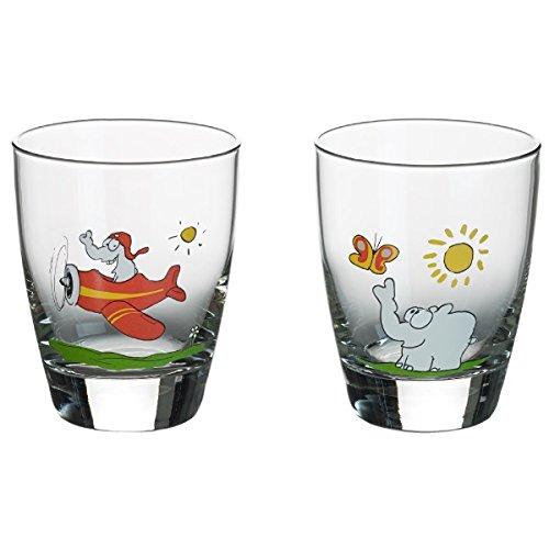 Otto by Ritzenhoff AG OW-0018 Wasserglas, Trinkglas, Ottifanten, Otto Waalkes, 300 ml, 2-er Set