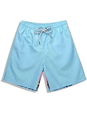 FeN Pantalones Cortos para Hombres Impresión Digital 3D Bañadores de Natación de Secado Rápido Moda Informal Verano...