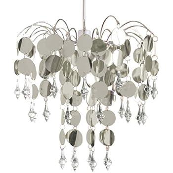 luminaire, plafonnier, pendentif lumière, lumière lustre approprié, 32cm, argent