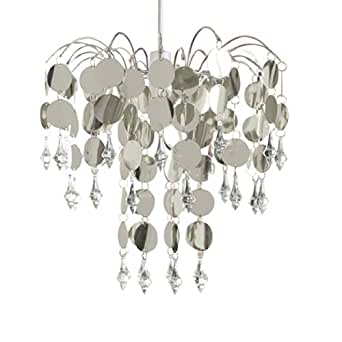 Urban Life Easy Fit Chandelier in Chic Silver