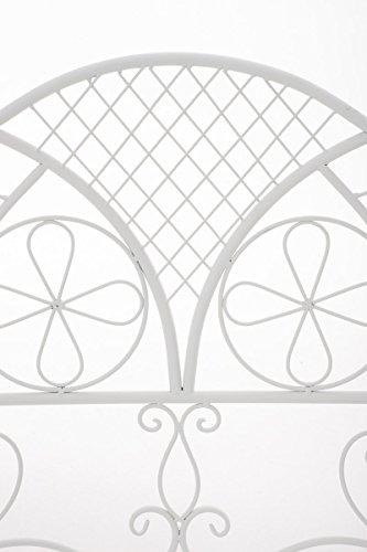 CLP Metall-Gartenbank RIEF, Landhausstil, lackiertes Eisen, ca. 110 x 50 cm, Design nostalgisch antik Weiß - 4