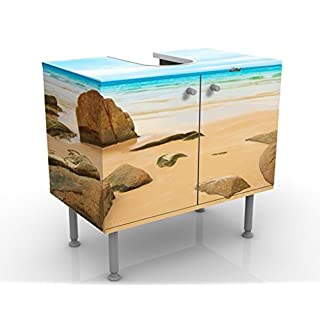 Design Vanity The Beach 60x55x35cm, small, 60cm wide, adjustable, wash basin, vanity unit, washstand, bathroom cupboard, base unit, bathroom, narrow, flat