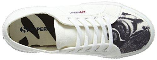 Superga Unisex-Kinder 2750 Fant Animalscotj Sneaker Weiß (White tiger)