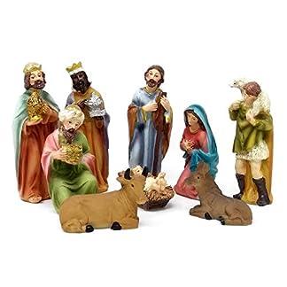 ToCi–Figuras de belén de con 9Figuras (11cm) para la Tradicional navideño Belén