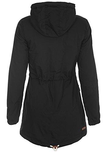 DESIRES Tilonga Damen Parka lange Jacke Winterjacke mit hochabschließendem Kragen aus hochwertigem Material Black (9000)