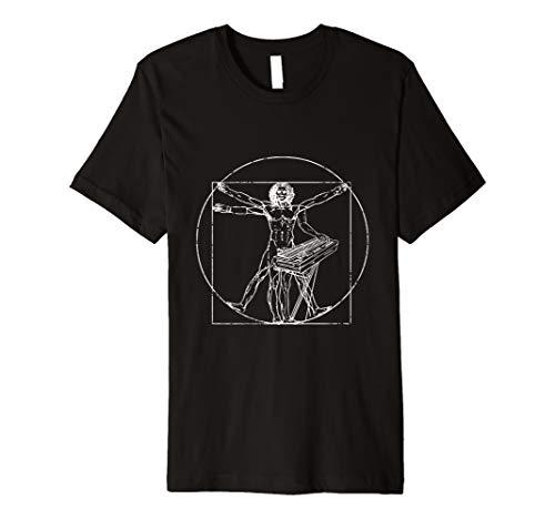 Vitruvian Mann Keyboard Musik Instrument Klavier T-Shirt