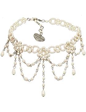 Alpenflüstern Trachten-Perlen-Kropfkette Elise - Trachtenkette Damen-Trachtenschmuck Dirndlkette in traditionellen...