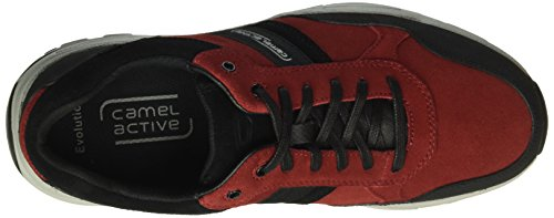 camel active Herren Evolution 31 Sneakers Rot (wine/black 04)
