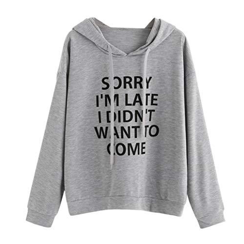Xmiral Women Sweatshirt Polyester Batik O-Neck Hoodie Jumper Long Sleeve  Letter Print Autumn Pullover 8af2c8e738f
