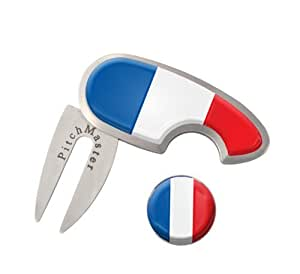 Pitchmark réparateur avec drapeau français et Ball Marker