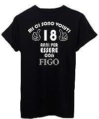 Idea Regalo - iMage T-Shirt 18 Anni per Diventare Figo Compleanno Regalo - Eventi - Uomo-L-Nera