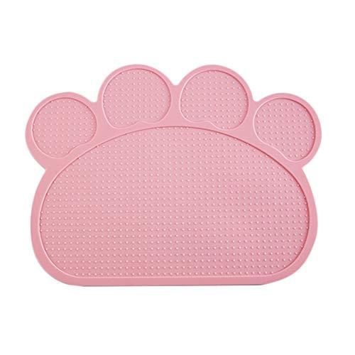 Demarkt Napfunterlage Hund Katzen Futtermatte Silikon Wasserdicht Anti Rutsch Tiernahrung Matte Rosa
