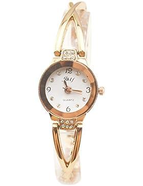 Genießen Damenuhren Schmuck Uhren Beauty Modeschmuck Metall Strass Diamand Armbänder