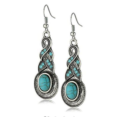yazilind-bijoux-charme-ethnique-tibetain-ovale-argent-rimous-turquoise-baisse-cristal-boucle-oreille