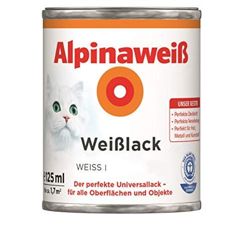 Alpina Weißlack Universallack 125ml weiss glänzend