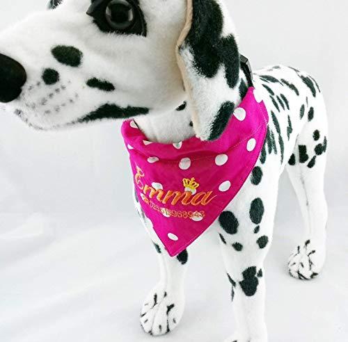 Hundehalstuch Verstellbar als Halsband S M L XL XXL Wunsch bestickt Muster Stoffe