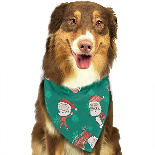 Wfispiy Santa Claus Fashion Pet Bandanas Dog Car Neck Scarf for Unisex Pet Boy Girls (Patriot Boy Kostüm)